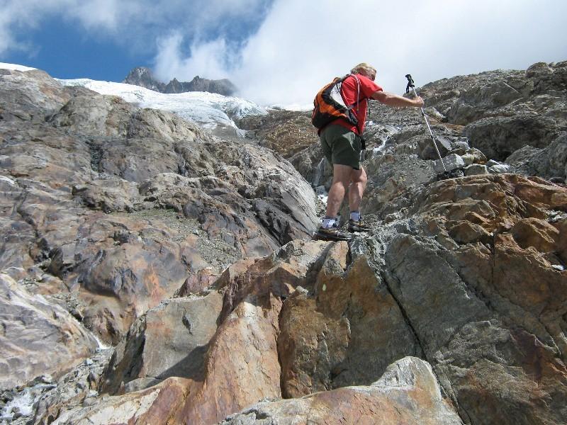 en direction du Col de Seigne