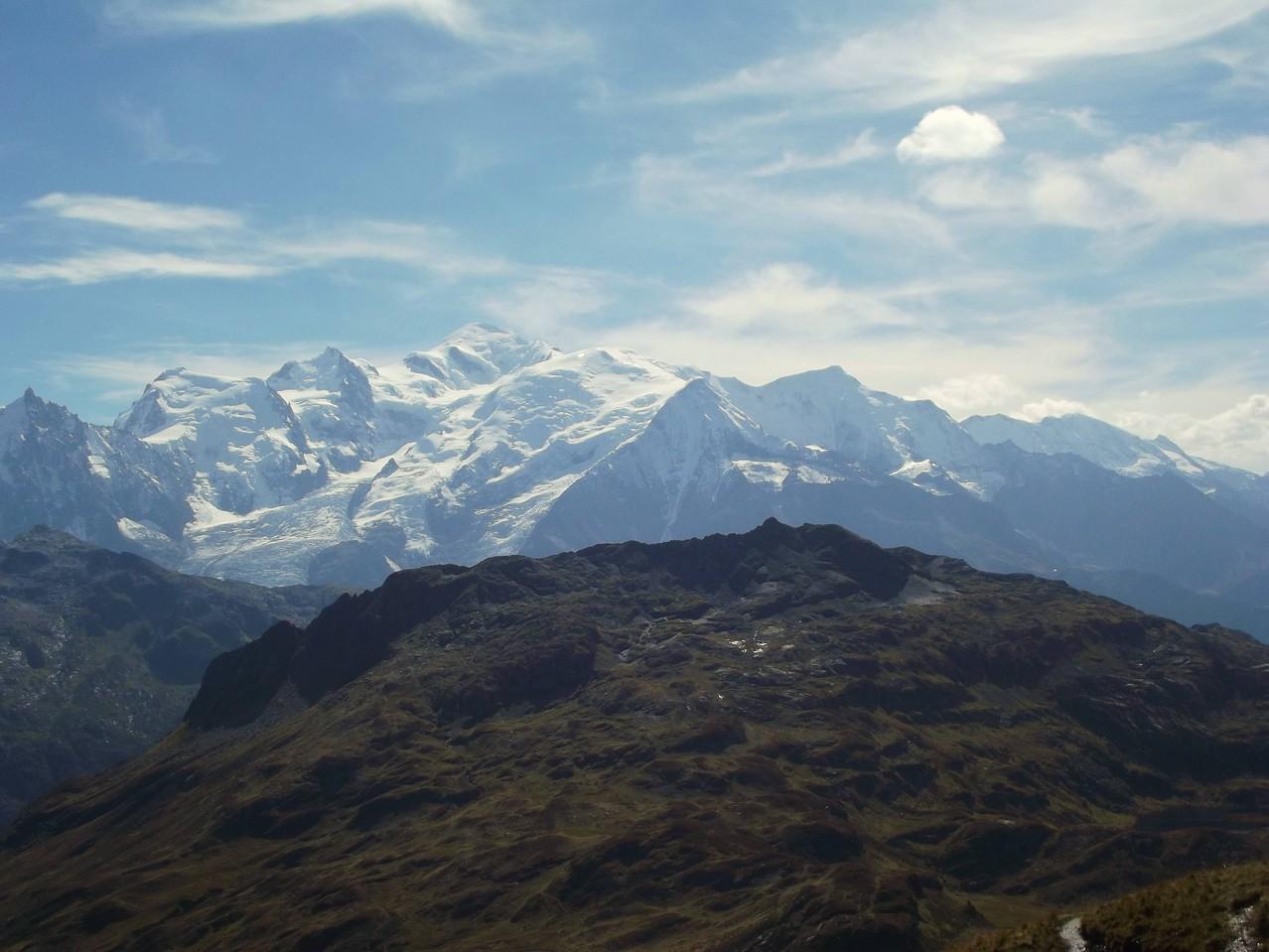 le mont blanc, toujours à contre jour ....