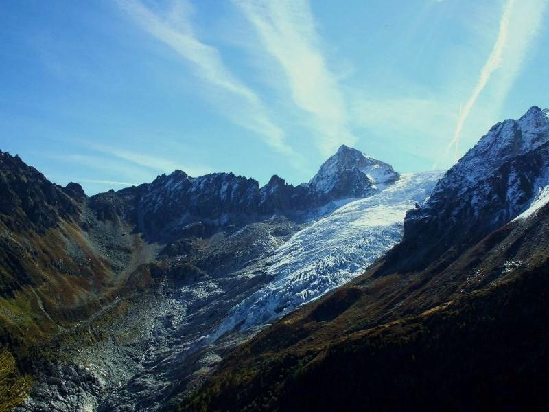 vue sur le glacier de Trient