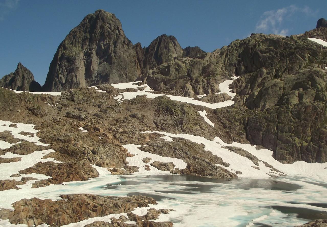 Les lacs Noirs - blancs de glace