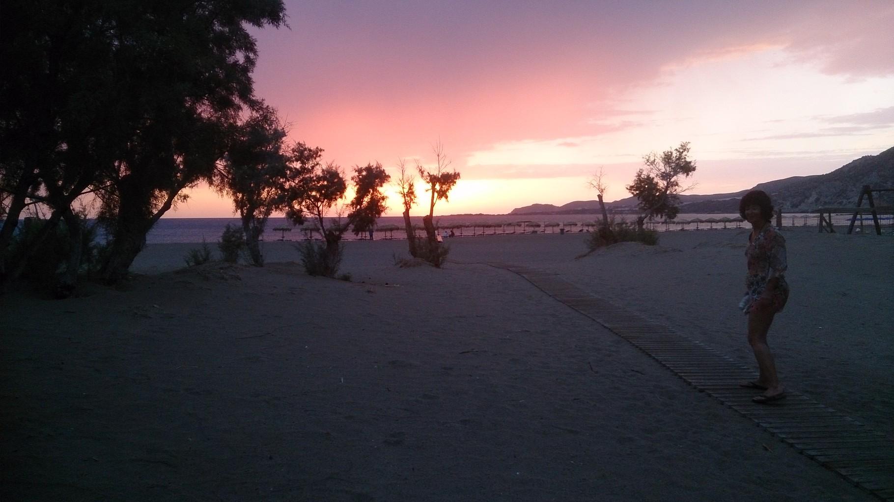 Paléochora - premier coucher de soleil