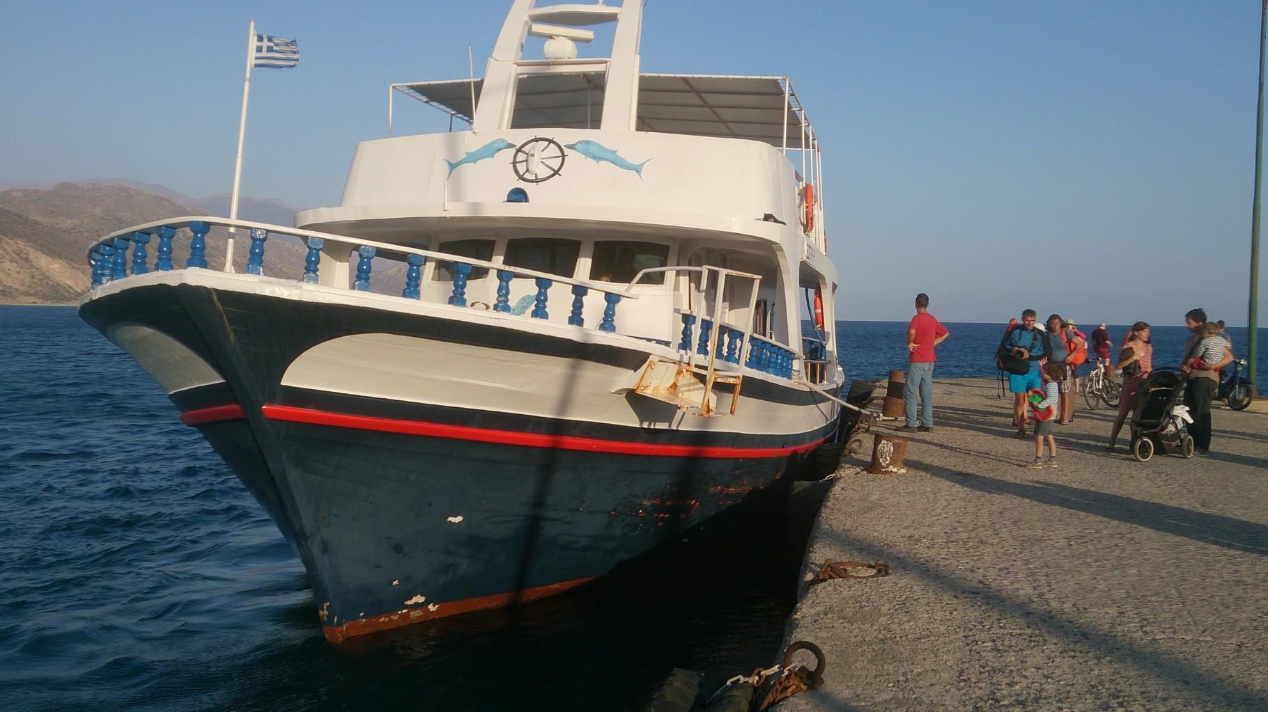 Bateau taxi Elafonisi - Paléochora