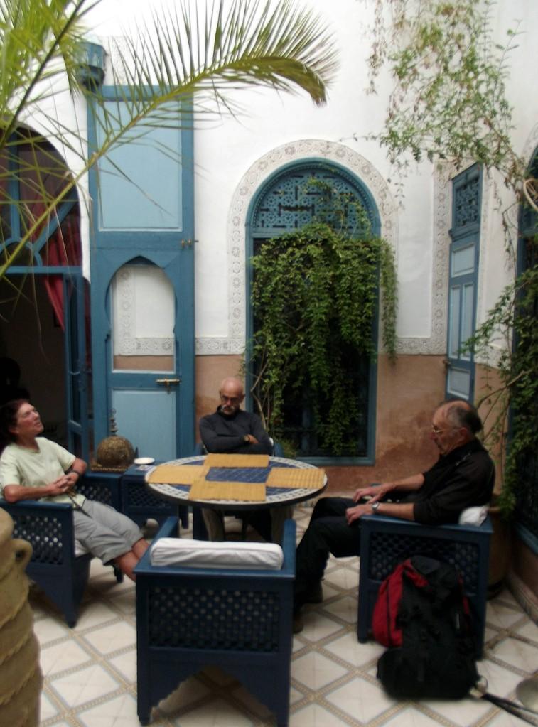 arrivée au Ryad de Marrakech