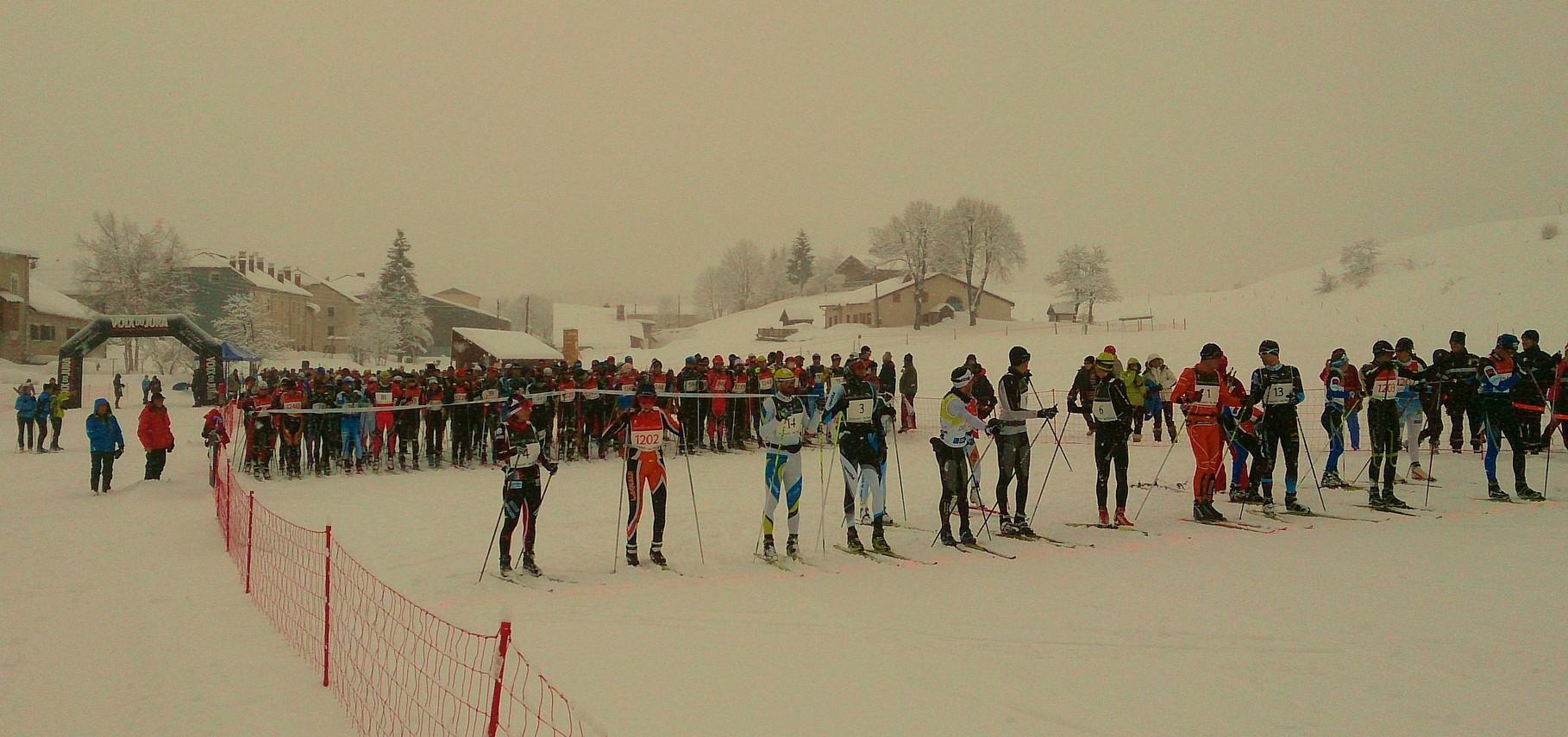 40° marathon des neiges - temps médiocre et mauvais appareil - au départ