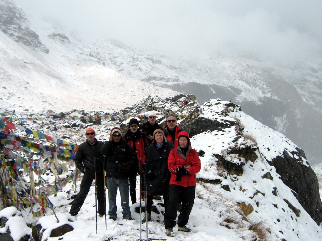 photo de famille à ABC (Annapurna Base Camp)
