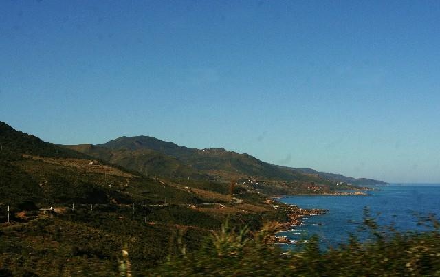 la côte entre BEJAIA et ALGER