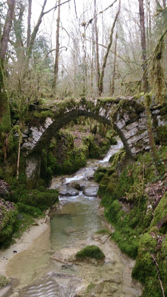 """et sur le petit """"bief"""" de Quinquenoulle - le vieux pont"""