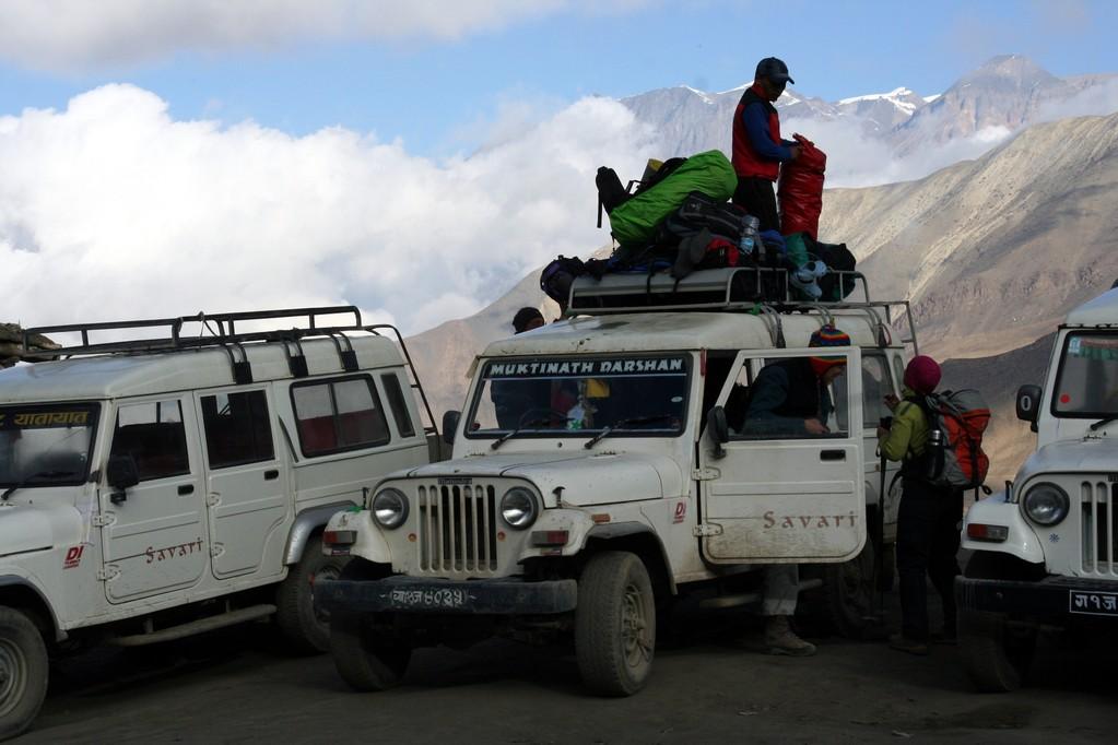 départ en Jeep vers JOMSOM
