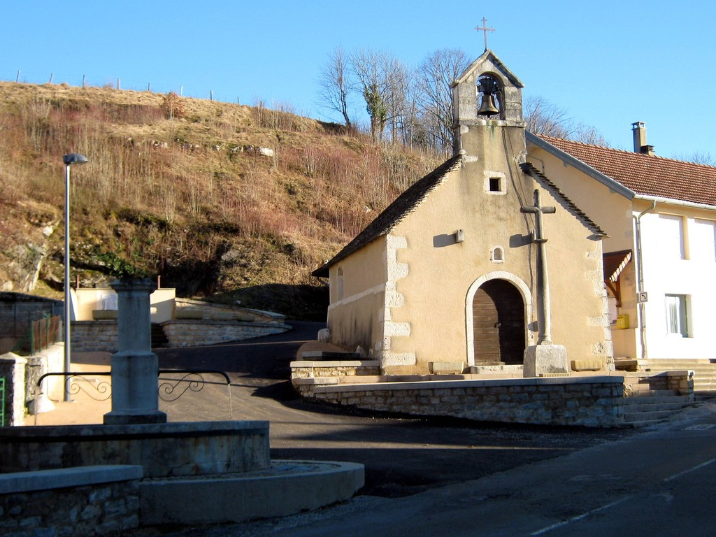 l'église de Ménétrux en Joux