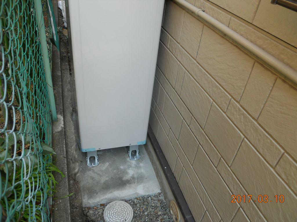 エコキュート貯湯ユニット設置