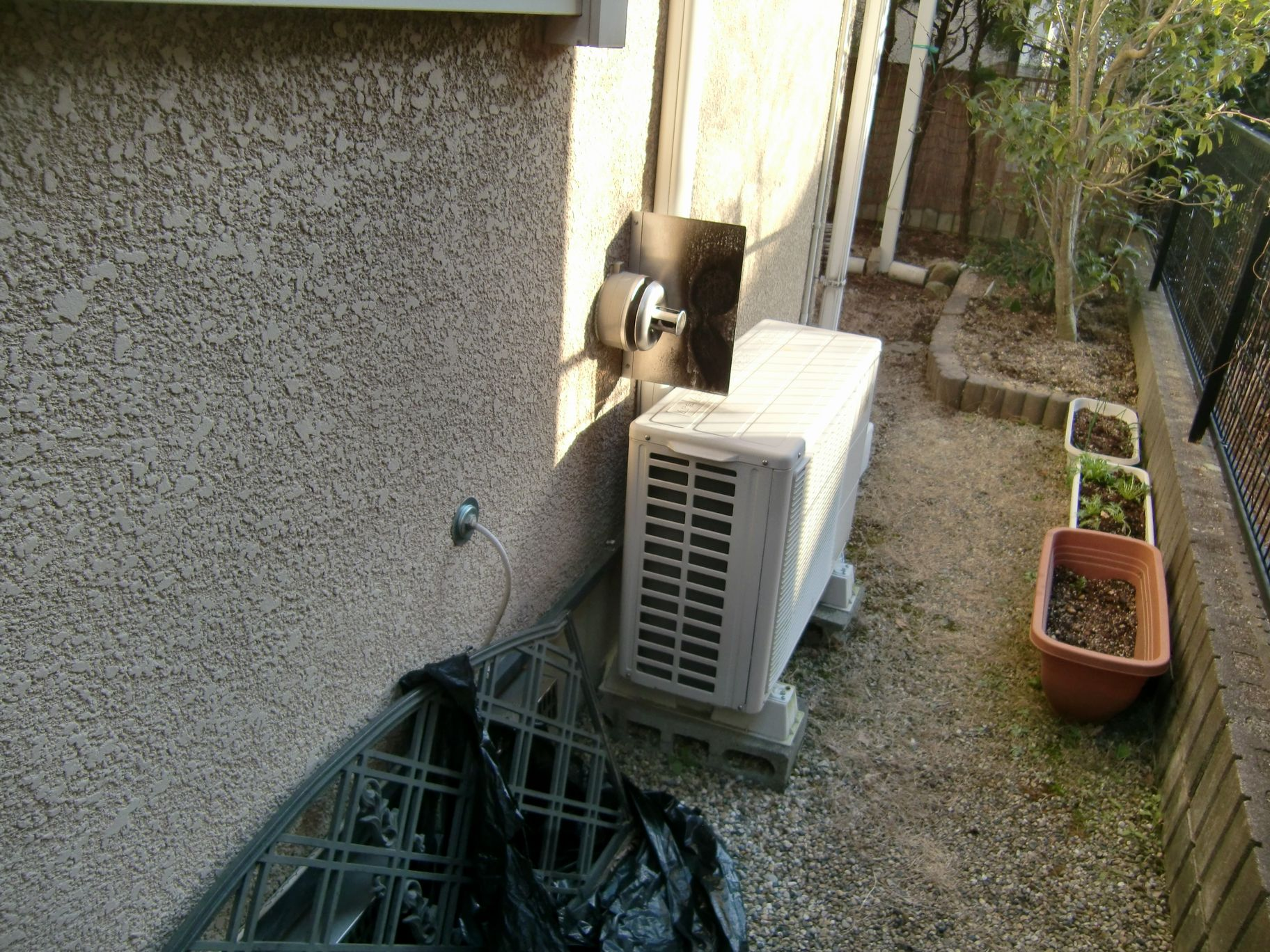 暖房専用熱源機取付工事前