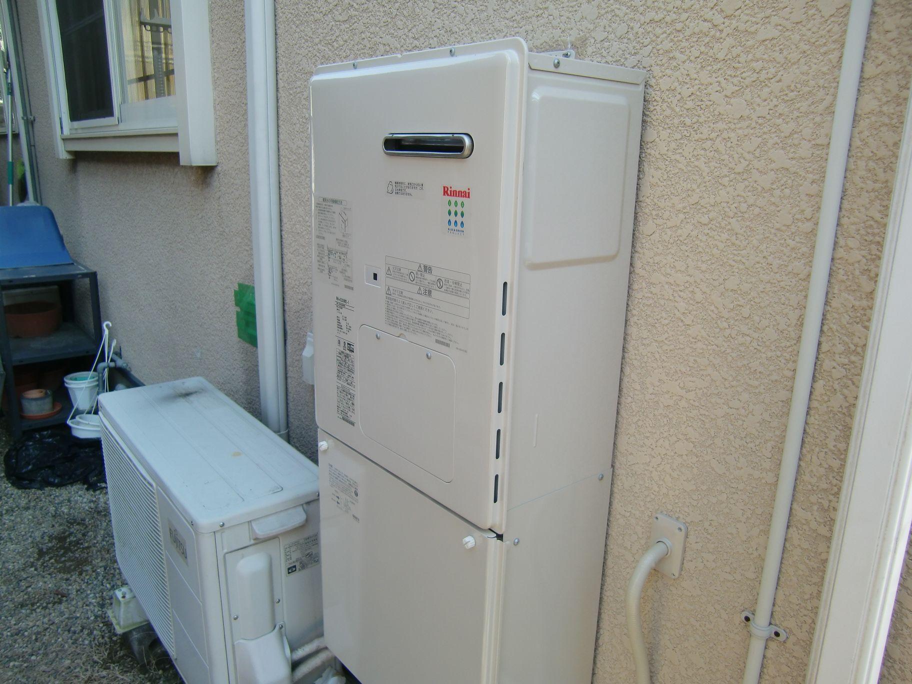 暖房専用熱源機工事完了後