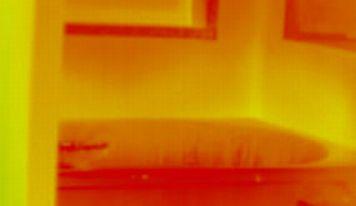 暖房中の浴室