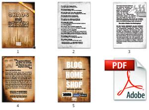 Flyer DIN A6, 5 Seiten, RGB