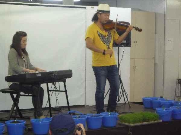 元常陸太田大使のバイオリニストの竜馬さんのコンサートに酔い、自酒に酔いました。