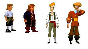 Guybrush though the ages...