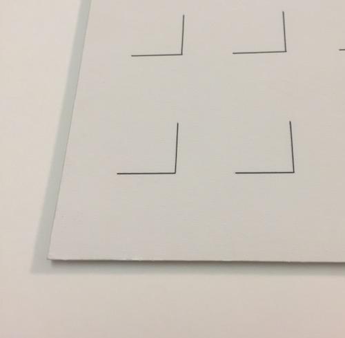 Papiergut einrahmen - ag bildet ein; Graik erhöht aufgelegt. Reversilbe Fixierung mit Shofu.