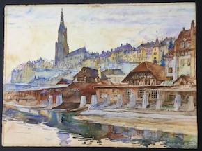 Bern: watercolor painting
