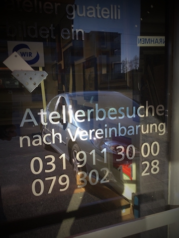 Schwebende inrahmung - Atelier Guatelli  Bernstr. 81 CH-3052 Zollikofen +41 911 30 00 / info@guatelli.ch