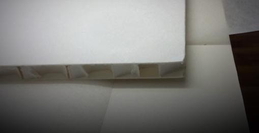 Alterungsbeständige Materialien - Reversibel Fixierung - Honeycomb panel  von Klug als Zwischenlage.