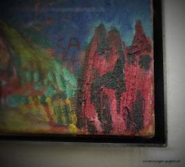 Keilrahmen - Bild mit Schattenfugenrahmung
