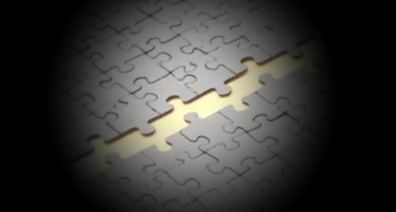 4 Teiliges Puzzle im Atelier zusammengefügt