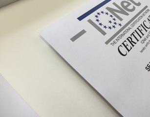 Einrahmung Certificat