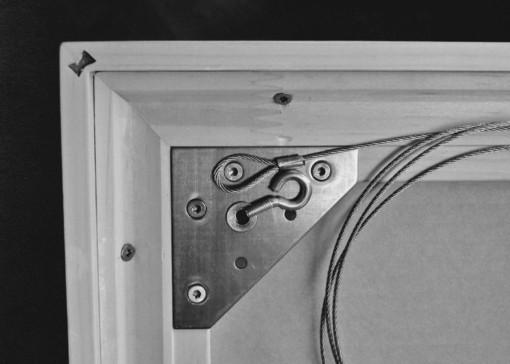 Bildaufhänger; M-Fix-Basic auf Einlegrahmen. einrahmungen-guatelli.ch