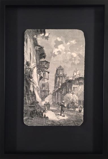 Bild Bern eingerahmt auf schwarzen Hintergrund