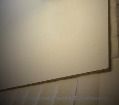 Plakat einrahmen lassen; Wabenkarton von Klug als Träger-Karton