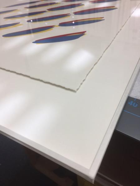 Schwebende aufgelegt - Falz Japanpapier - konservatorische Einrahmung