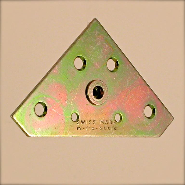 Bilderrahmen - Aufhänger; M-Fix-Basic M5 ( 60 x 60 x 1.5 mm, Gewinde M5 )
