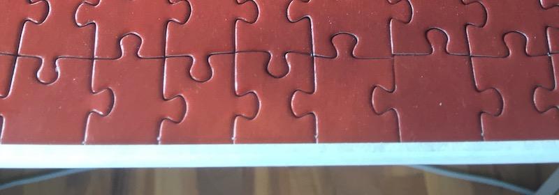 Puzzle einrahmen