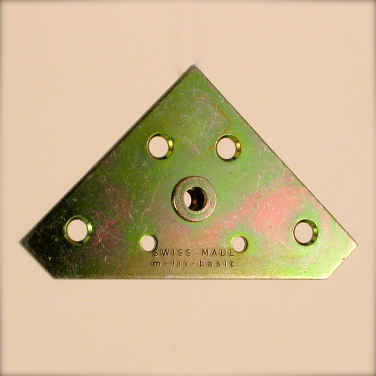 Bildaufhänger Metall mit M5 Tubtara ergänzt; M-Fix-Basic M5