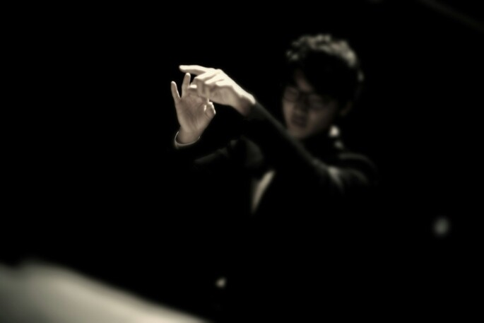 Choi conducting his Ensemble piece - credit: Whayoung Song 2013