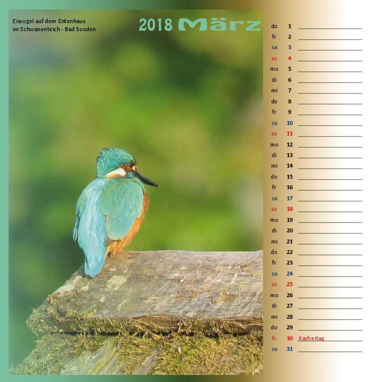 Kalenderformat 21x21 - Kurpark Bad Sooden