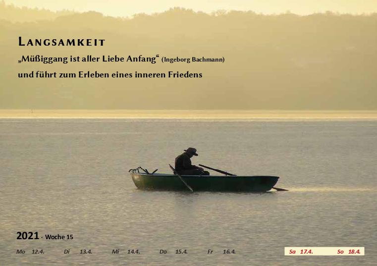 Wochenkalender Format A5  - Ammersee