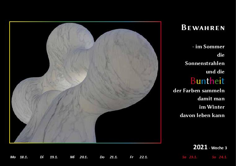 Wochenkalender Format A5  - Carrara
