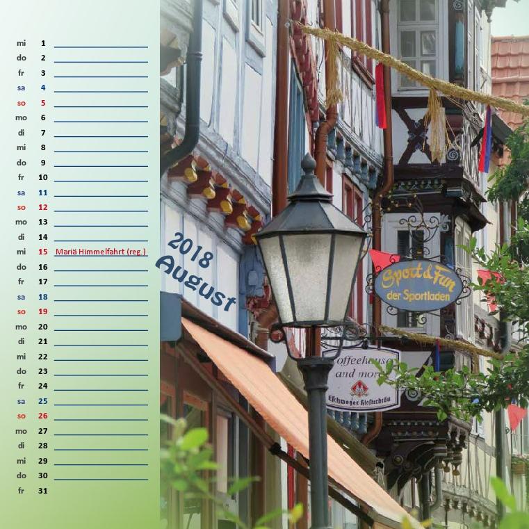 Kalenderformat 21x21 - Allendorf