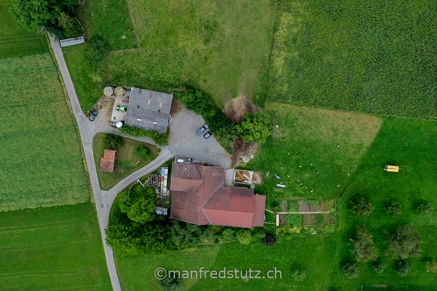 Ein Landwirtschaftsbetrieb im Kanton Aargau, Schweiz