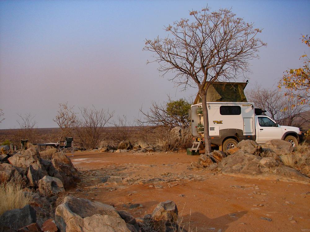Die Campingplätze liegen meist erhöht und bieten eine tolle Fernsicht.