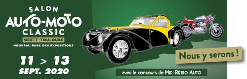 3ème participation au Salon Auto Moto Classic de Toulouse en septembre  2020