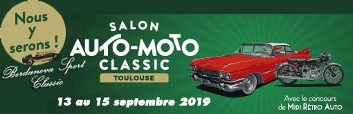 2ème participation au Salon Auto Moto Classic de Toulouse en septembre 2019