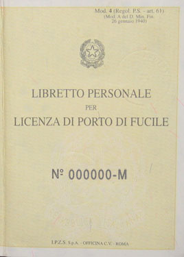 Info porto d 39 armi aspnroma - Porta d armi uso sportivo ...