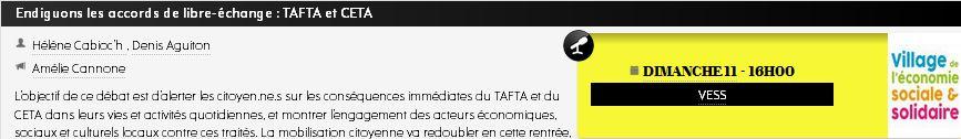 Endiguons les accords de libre-échange : TAFTA et CETA