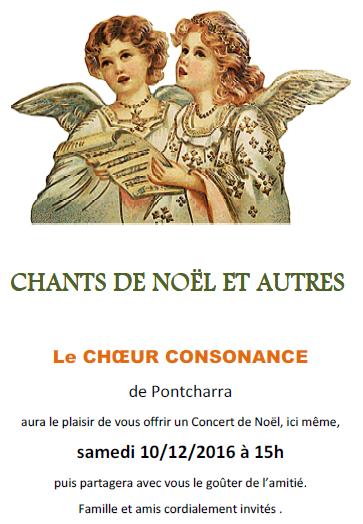 Consonance chante Noël à la Maison des Anciens de Pontcharra 10 décembre 2016