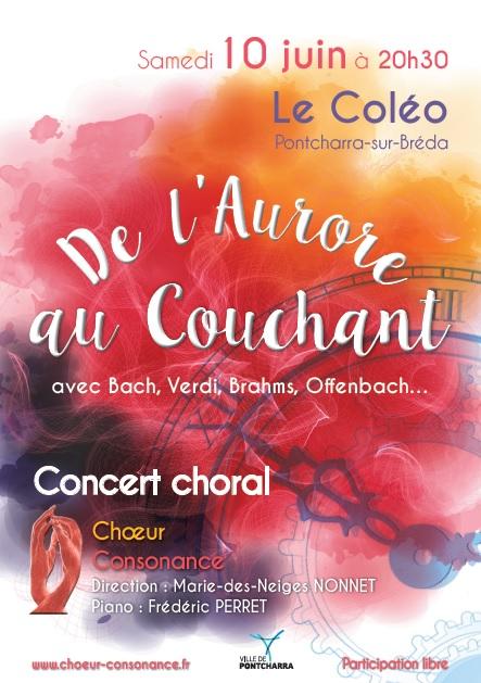 Concert choeur Consonance au Coléo de Pontcharra le 10 juin 2017