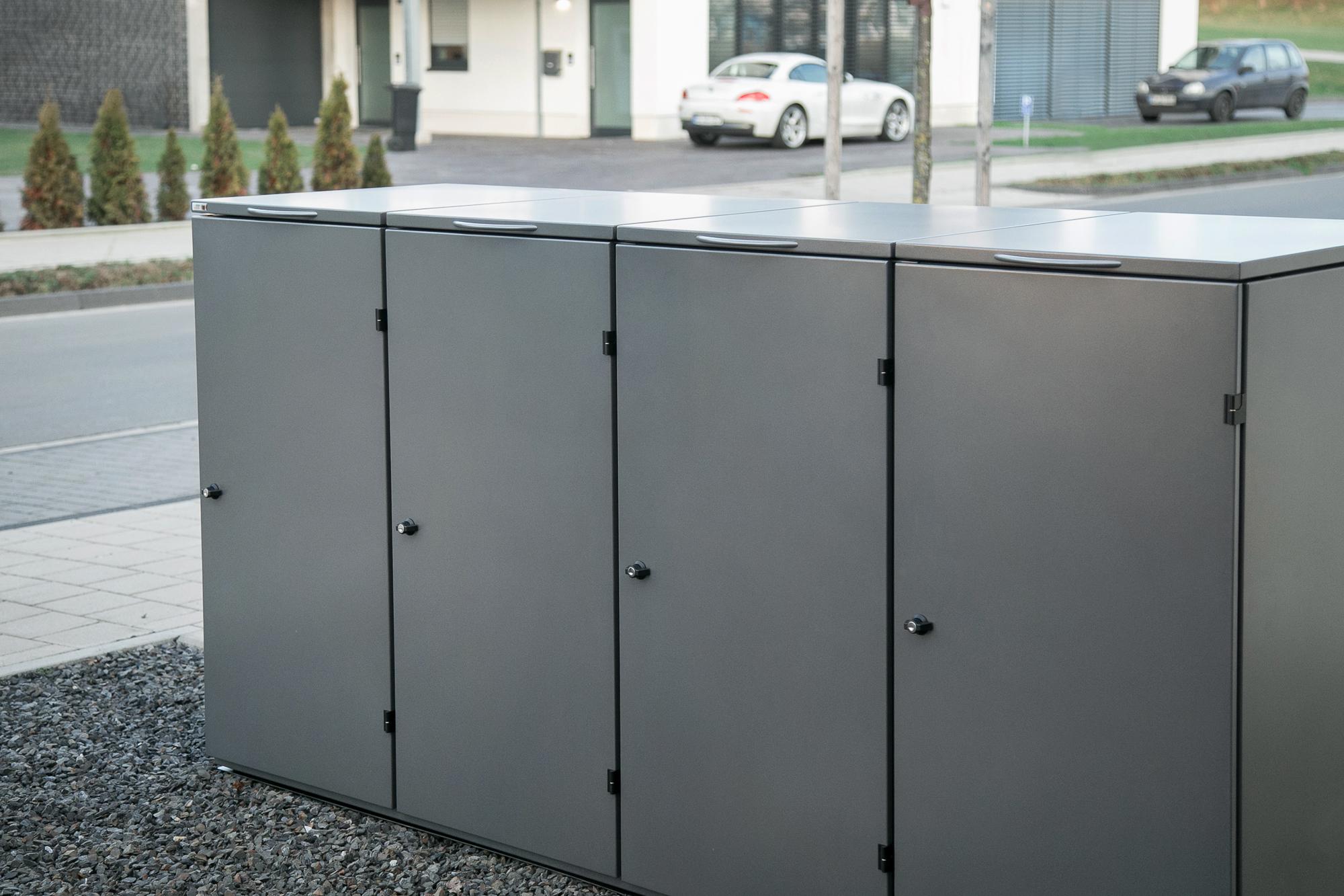 Mülltonnenbox OSLO- 124 Vorderansicht