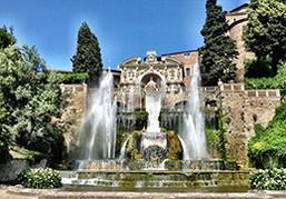ティヴォリ エステ家の別荘 豪華噴水のある庭園巡りなら、イタリアざんまいツアーで!