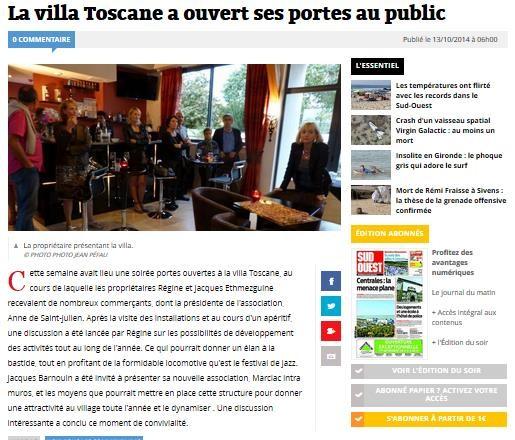"""Le projet """"Marciac Intra Muros"""" présenté à """"La Villa Toscane"""""""